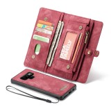 CaseMe-008 Detachable Multifunctional Horizontal Flip Leather Case for Galaxy Note9, with Card Slot & Holder & Zipper Wallet & Photo Frame (Red)