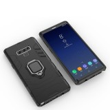 PC + TPU Shockproof Protective Case with Magnetic Ring Holder For Galaxy Note9 (Black)