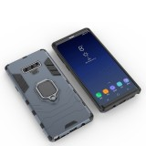 PC + TPU Shockproof Protective Case with Magnetic Ring Holder For Galaxy Note9 (Navy Blue)