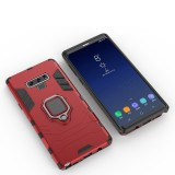 PC + TPU Shockproof Protective Case with Magnetic Ring Holder For Galaxy Note9 (Red)