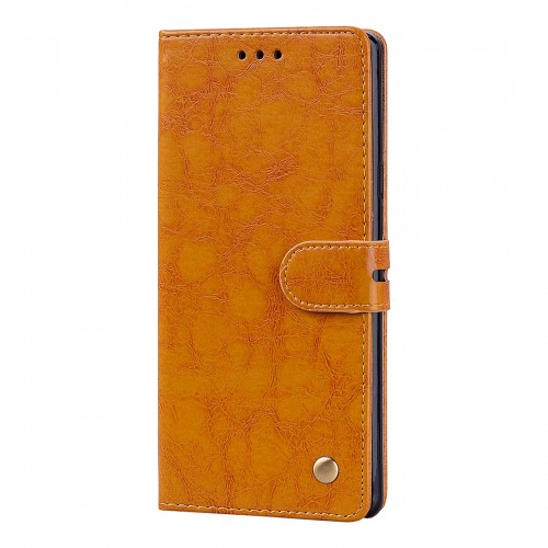 Business Style Oil Wax Texture Horizontal Flip Leather Case, with Holder & Card Slots & Wallet For Galaxy Note9 (Brown)