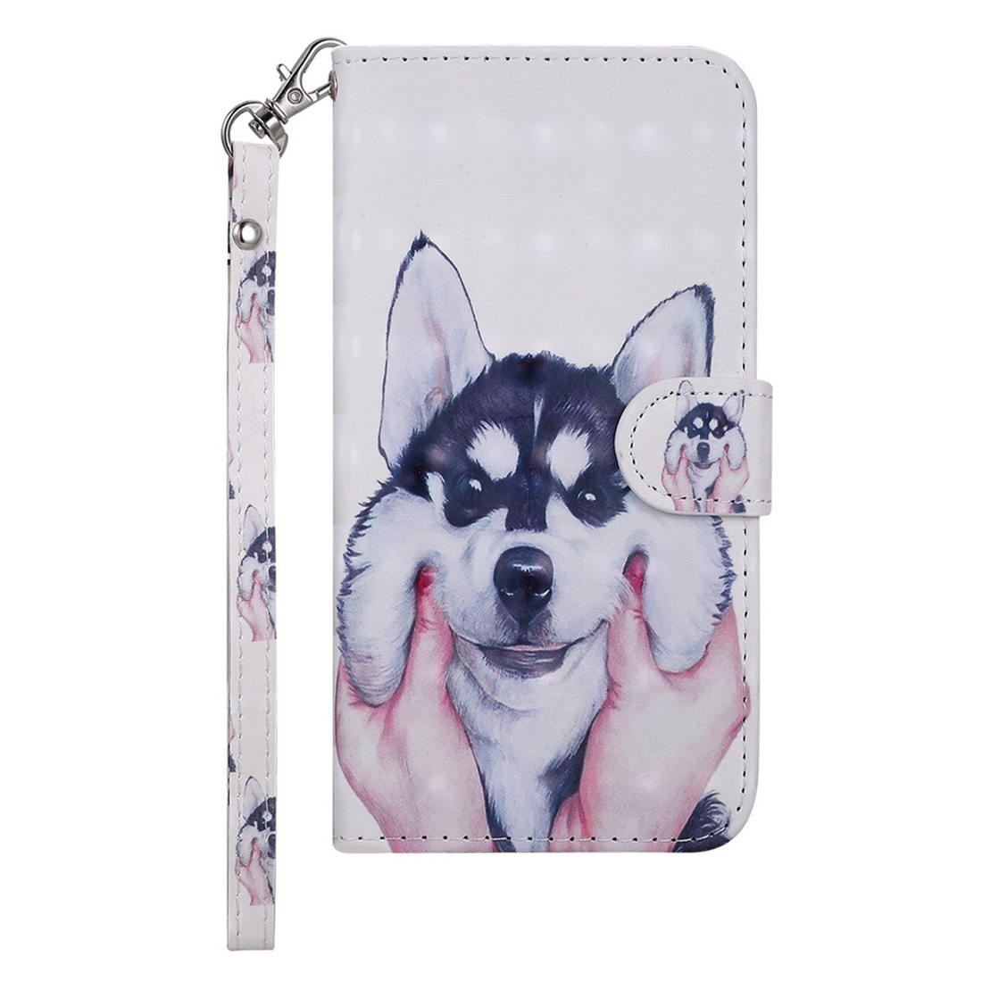 Husky Pattern Colored Drawing Horizontal Flip Leather Case for Galaxy  Note9, with Holder & Card Slots & Wallet & Lanyard