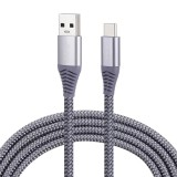 1.8m Nylon Braided Cord USB to Type-C Data Sync Charge Cable with 110 Copper Wires, Support Fast Charging, For Galaxy, Huawei, Xiaomi, LG, HTC and Other Smart Phones (Grey)