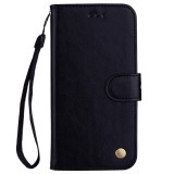 Business Style Oil Wax Texture Horizontal Flip Leather Case for Galaxy J6 (EU Version) (2018), with Holder & Card Slots & Wallet (Black)