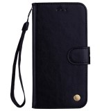 Business Style Oil Wax Texture Horizontal Flip Leather Case for Galaxy J4 (EU Version) (2018), with Holder & Card Slots & Wallet (Black)