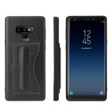 Fierre Shann Full Coverage Protective Leather Case for Galaxy Note9, with Holder & Card Slot (Black)