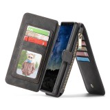 CaseMe-007 Crazy Horse Texcture Detachable Horizontal Flip Leather Case for Galaxy Note9, with Card Slot & Holder & Zipper Wallet & Photo Frame (Black)