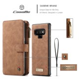 CaseMe-007 Crazy Horse Texcture Detachable Horizontal Flip Leather Case for Galaxy Note9, with Card Slot & Holder & Zipper Wallet & Photo Frame (Brown)