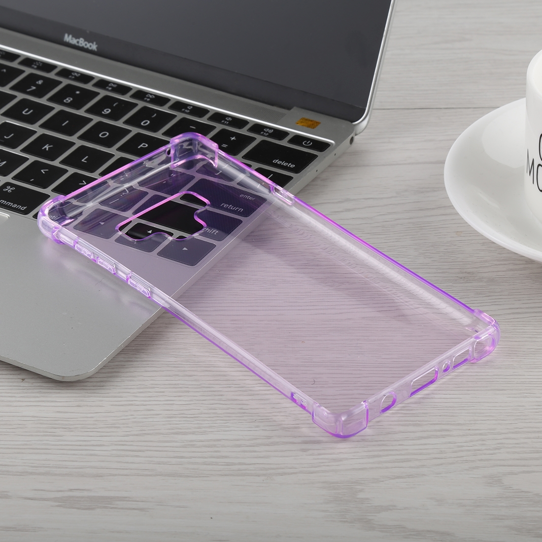 0.75mm Dropproof Transparent TPU Case for Galaxy Note9 (Purple)