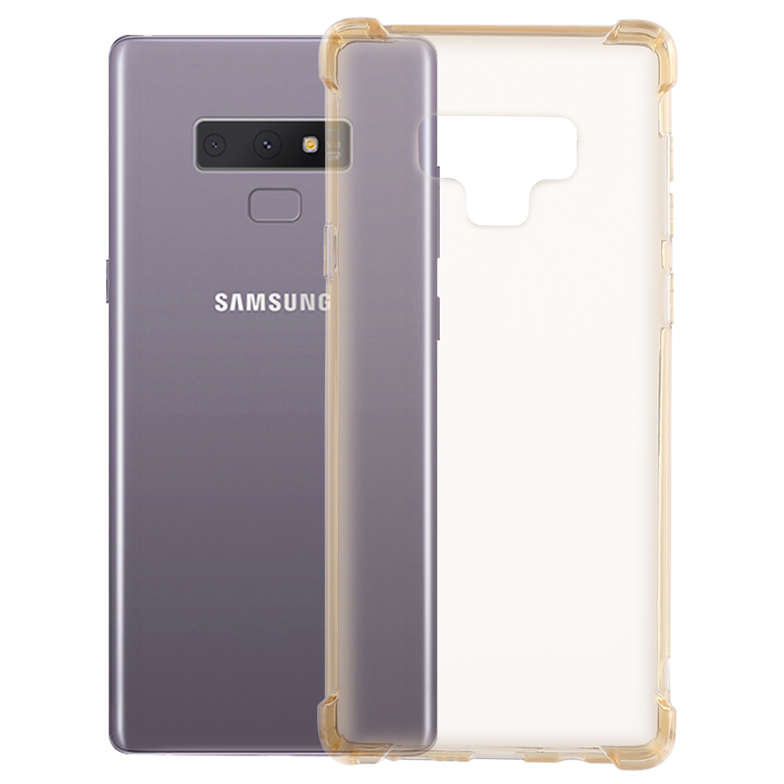 0.75mm Dropproof Transparent TPU Case for Galaxy Note9 (Yellow)