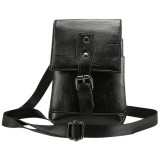 Men Litchi Texture PU Universal Phone Single-shouler / Waist Bag, For iPhone, Samsung, Galaxy Note9, Huawei, Xiaomi, HTC, Sony, Lenovo and other 5.5~6.5 inch Smartphones (Black)