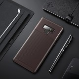 Beetle Shape Carbon Fiber Texture Shockproof TPU Case for Galaxy Note9 (Brown)