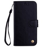 Business Style Oil Wax Texture Horizontal Flip Leather Case for Galaxy A6 Plus (2018), with Holder & Card Slots & Wallet (Black)