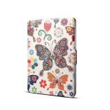 Colors Butterfly Print Horizontal Flip PU Leather Protective Case for Amazon Kindle Paperwhite 1 & 2 & 3 with Sleep / Wake-up