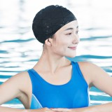 Original Xiaomi Mijia 7th Matte Silicone Waterproof Swimming Cap for Adult, Ears Protection Hat (Black)