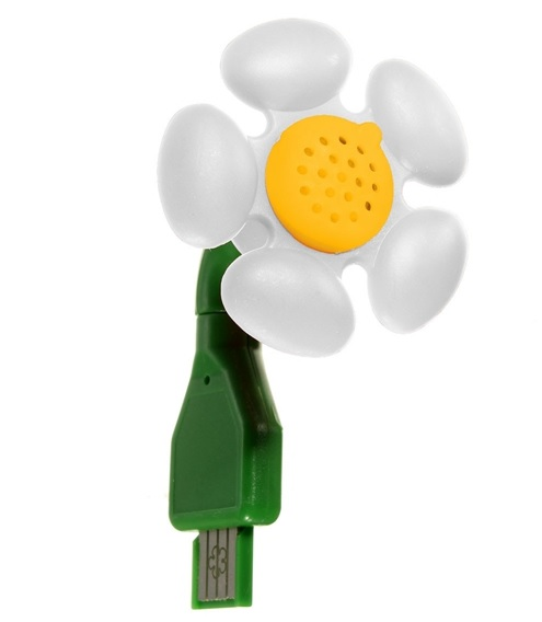 USB Aroma Mini Diffuser Flower Shaped Air Humidifier for Home Office Car