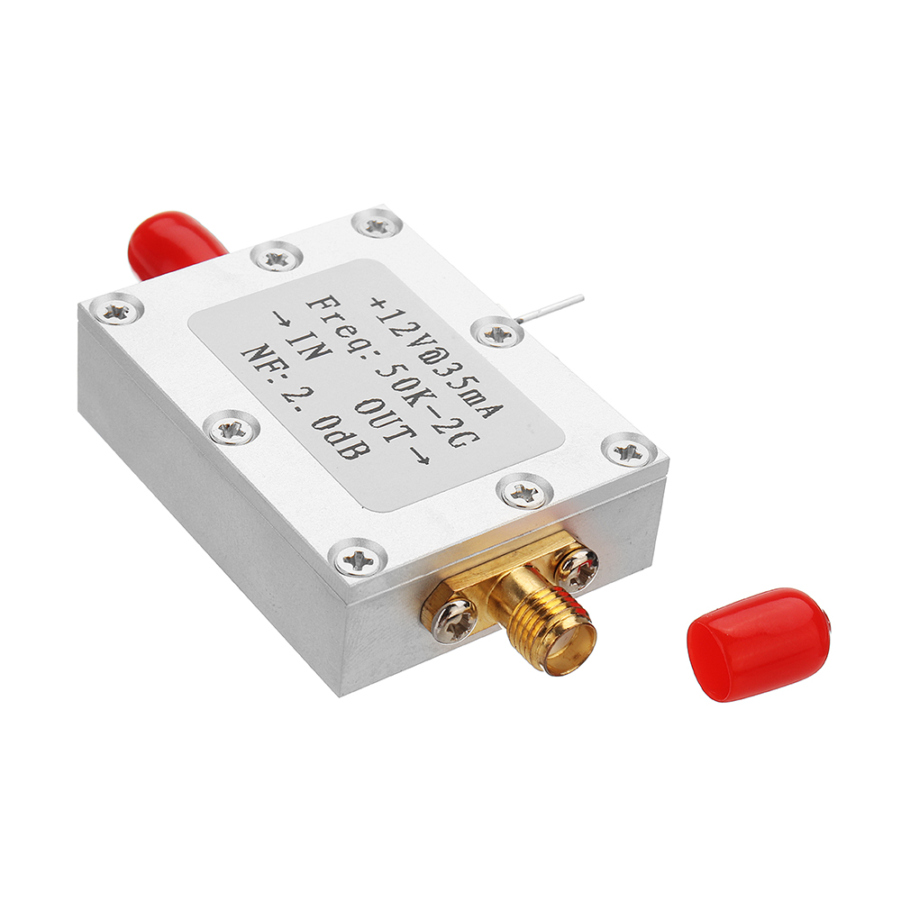 50K-2G LNA Low Noise Amplifier High Gain 31DB@0.5G Flatness RF Amplifier