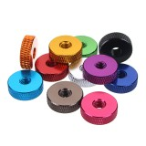 Suleve M5AN1 10Pcs M5 Manual Knurled Thumb Screw Nut Spacer Flat Washer Aluminum Alloy Multicolor