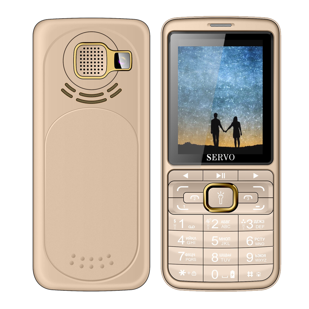 Servo S10 2.8 Inch 2500mAh Power Bank With Mosquito Repellent Lamp FM Radio 3 SIM Card Feature Phone
