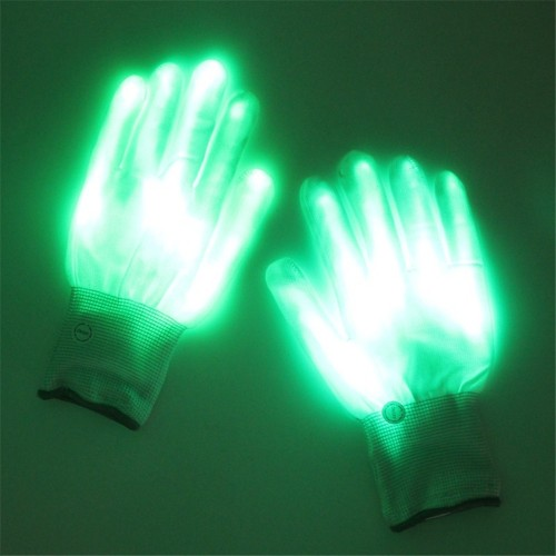 Halloween Green Light Glove Dancing Stage LED Palm Light Up Finger Tip For DJ Club Party