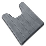 Coral Fleece Carpet Bathroom U-shaped Cotton Toilet Bathroom Carpet Mat Memory Foam Bath Floor Mats