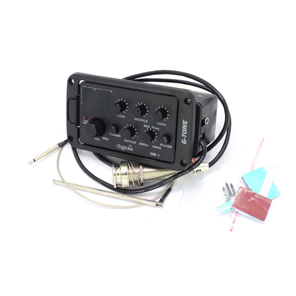 Cherub GB-1 3-Band EQ Equalizer Preamp Pickup For Acoustic Guitar