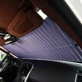 Retractable Car Front Window Sunshade Curtain Aluminum Foil Sun Protection Lightproof Insulation Mat