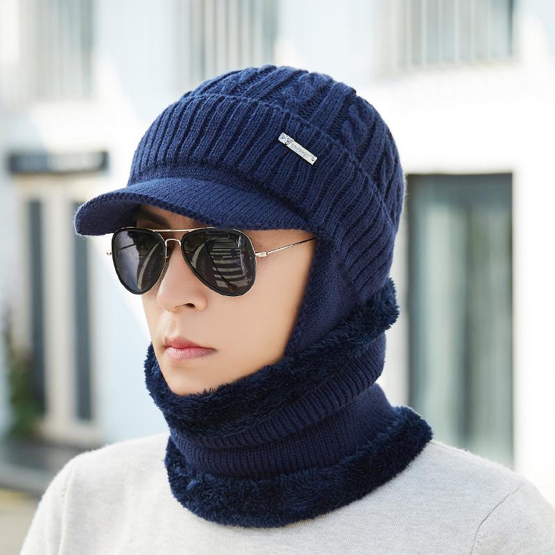 More Detailed Photos  Men Women Winter Windproof Plus Velvet Knit Hat Scarf  Set Outdoor Thicken Ski Earmuffs Cap 7c5e4f55bad3