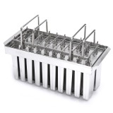 Stainless Steel Mould 20 Cavity 115g Ice Pop Maker Mold Lolly Popsicle Square Ice Cream Stick Holder