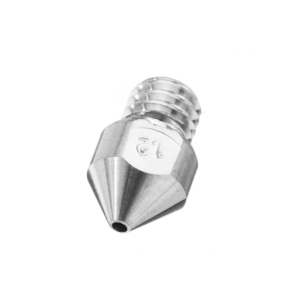 5pcs 1 2mm MK8 TC4 Titanium Alloy M6 Thread Nozzle For 3D Printer