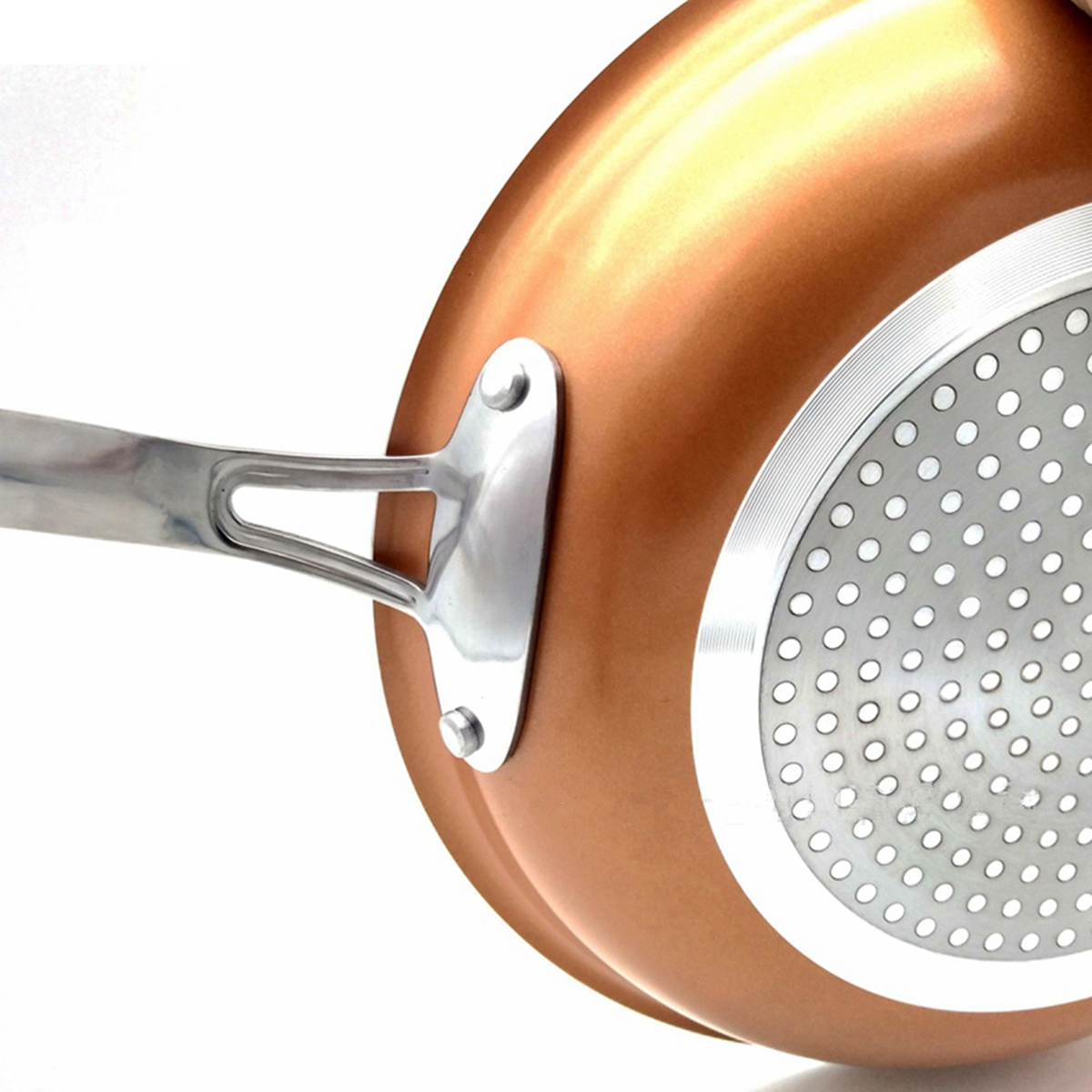 8/10/12 Inch Non Stick Copper Frying Pan Universal For Gas & Induction Cooker