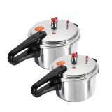 4L/7L Aluminium Alloy Pressure Cooker Kitchen Gas Stove Cooking Pot Safety Presto Cookware