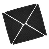 8pcs Triangular Anti-skid PU Carpet Gripper Washable Reuseable Non Slip Kitchen Bathroom Rug Pad Mat