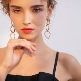 Fashion Ear Drop Earring Hollow Irregular Geometric Rhinestone Charm Earrings for Women