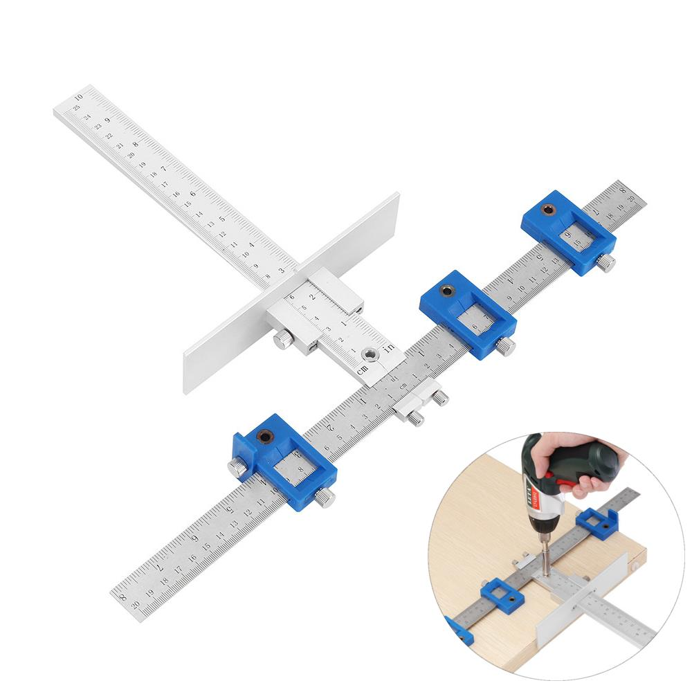 Drillpro Aluminum Aolly Inch/mm Cabinet Hardware Jig for ...