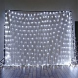 1.5×1.5m IP65 LED Curtain Fairy Holiday String Light Christmas Party Wedding Decor EU Plug AC220V