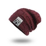 Unisex Winter Outdoor Sports Thicken Woolen Weaving Knitted Beanie Hats
