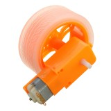 3Pcs Orange Rubber Wheels + 3-6v TT Motors DIY Kit For Arduino Smart Chassis Car Accessories
