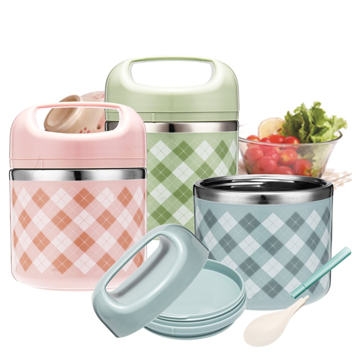 Vacuum Portable Stainless Steel Lunch Box Picnic Thermos Food Storage Container   Alexnld.com