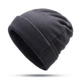 Outdoor Winter Thick Fleece Double Layers Beanie Hat Men And Women Windproof  SkullCap