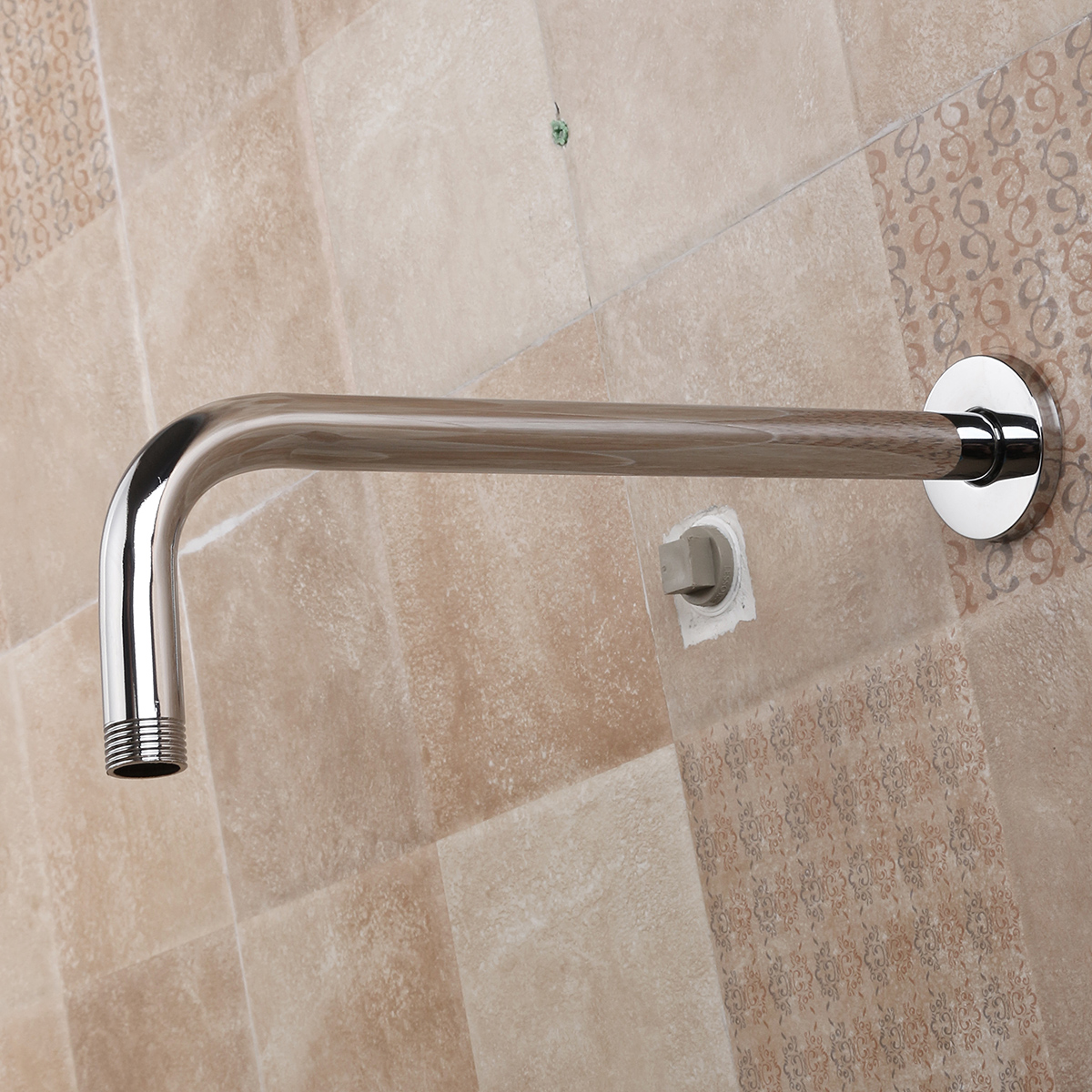 Stainless Steel Shower Extension Arm Home Bathroom Wall ...
