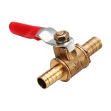 8/10mm Hose Barb Inline Brass Shutoff Mini Ball Valve Pipe Fitting 180 Handle Water Gas Fuel Line
