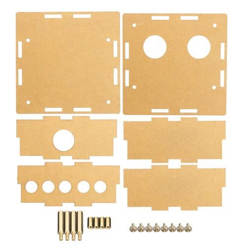 3pcs Transparent Acrylic Housing Shell For 6J1 Tube Preamplifier Amplifier Module Case