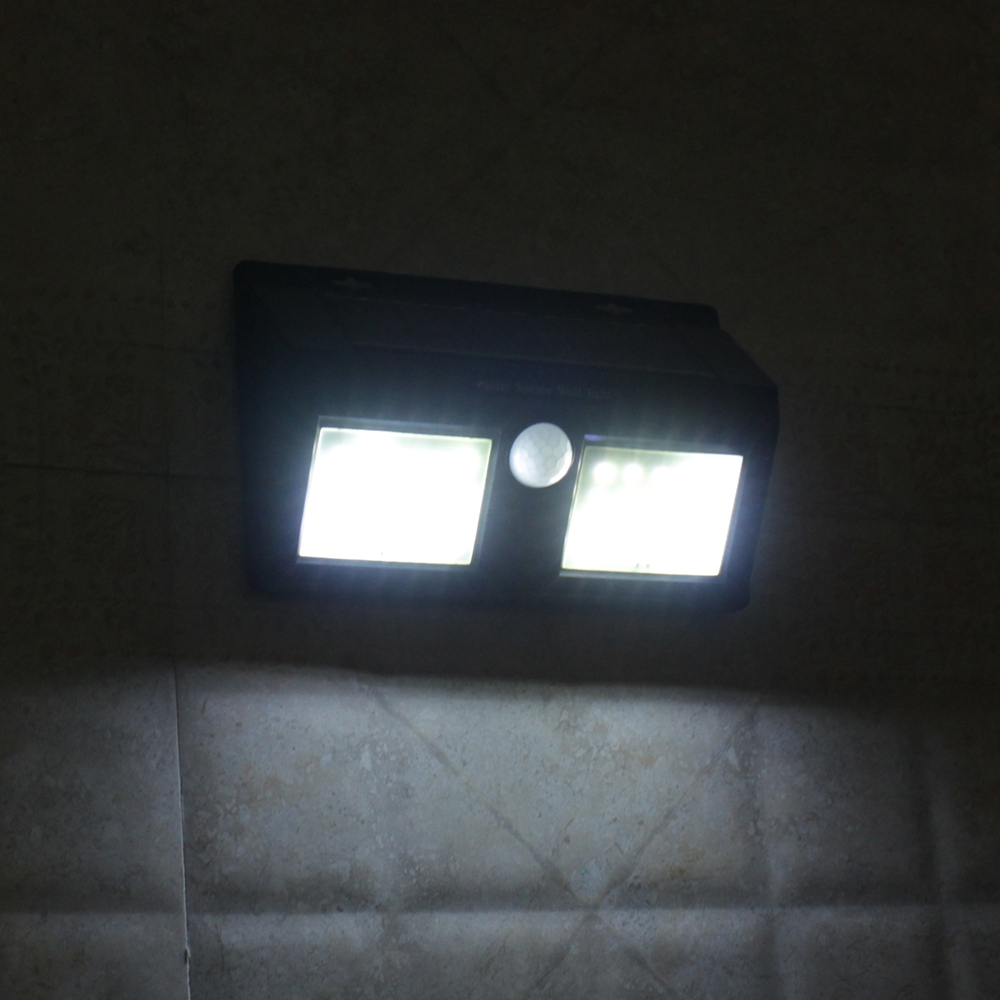 40 LED Solar Powered PIR Motion Sensor Wall Lamp Waterproof Security White Light Garden Outdoor
