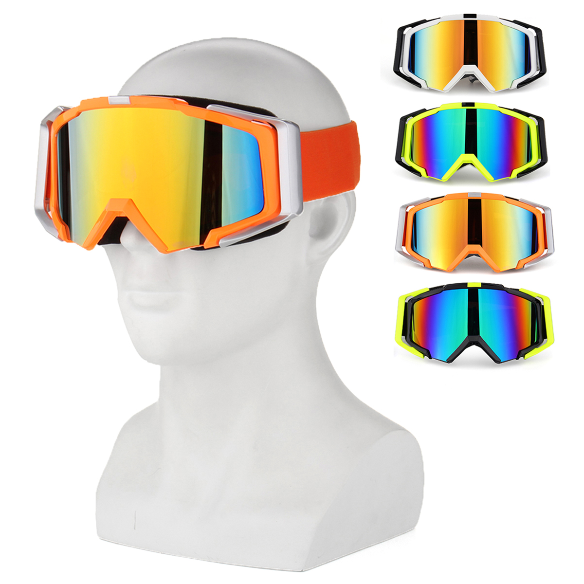 TYX76 Outdoor Skiing Skating Goggles Snowmobile Glasses Windproof Anti-Fog UV Protection For Men Wom