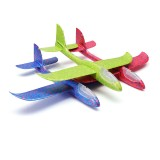"""48cm 19"""" Hand Launch Throwing Aircraft Airplane Glider DIY Inertial EPP Plane Toy With LED Light"""