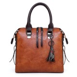 4 PCS Women Faux Leather Handbag Vintage Multi-function Crossbody Bag