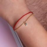 Luxury 925 Sterling Silver Red Rope Lucky Charm Bracelet Zircon Stars Chain Bracelets for Women