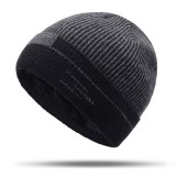 Men Women Winter Warm Thicken Plus Velvet Knit Cap Outdoor Ski Double Layers Beanie Skullcap Hat