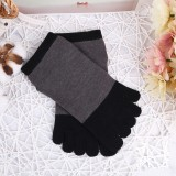 Women Girls Simple Style Five-Toe Socks 5-Pair Set Short Tube Ankle Socks